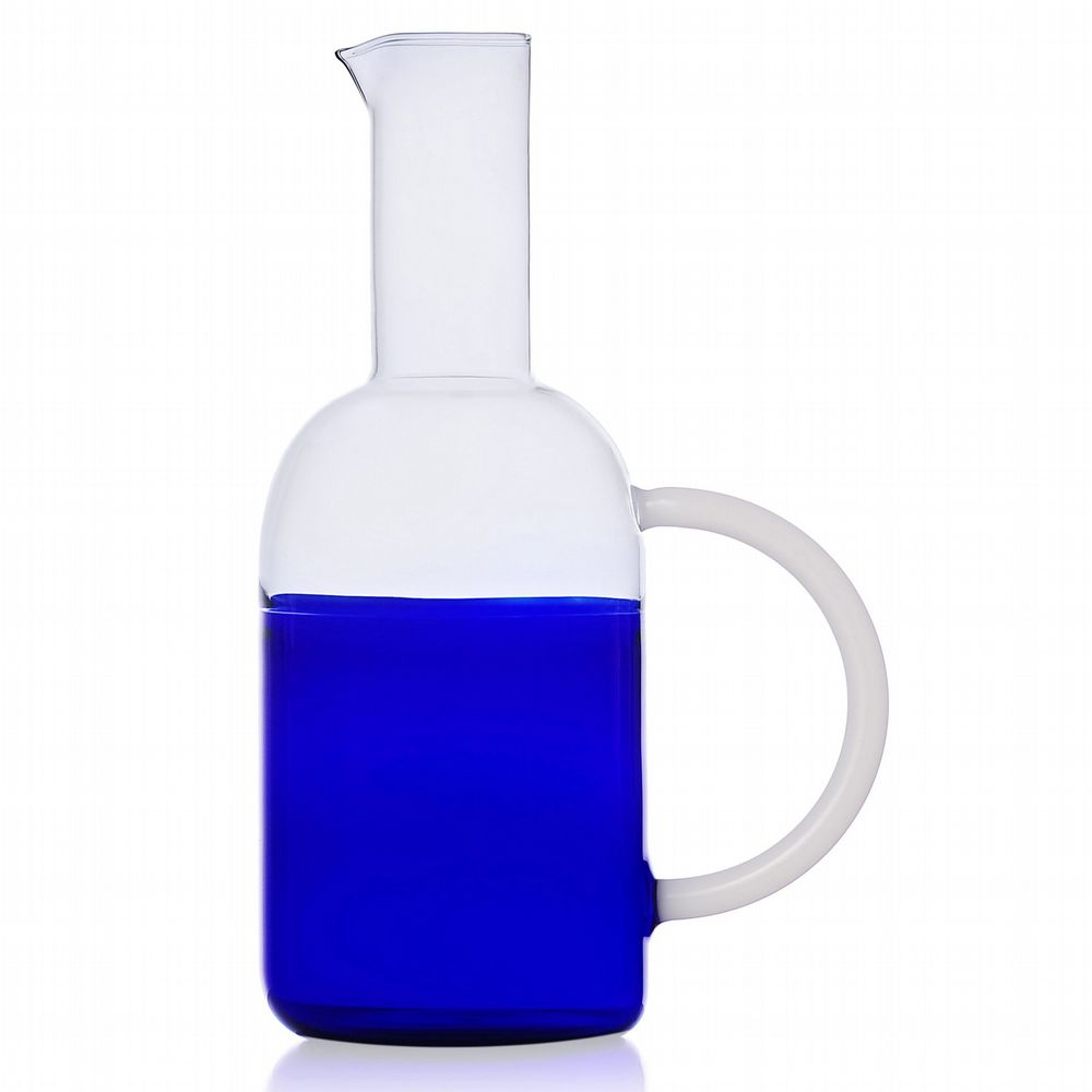 Milanese Glass - Duo-Tone Jug - Blue & Clear